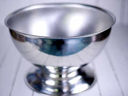 'Lainie' Polished Stainless Large Punch Bowl