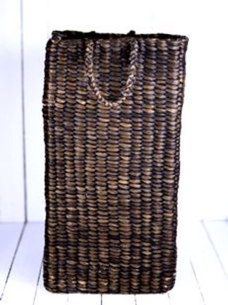 'Weave' - Tall Brown Woven Basket