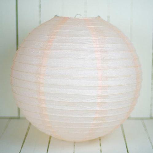 'Rice Light Pink' - Light Pink Paper Lantern 12 Inch