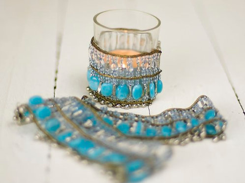'Tribe' - Turquoise Tea Light Wrap