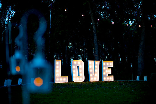 'Love Writ Large' - Marquee Light Love Sign