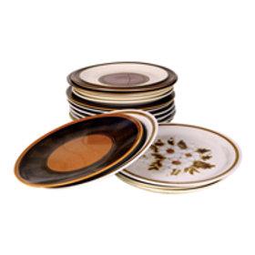 'Stoned Dining' - Retro Stoneware Dinner Plates