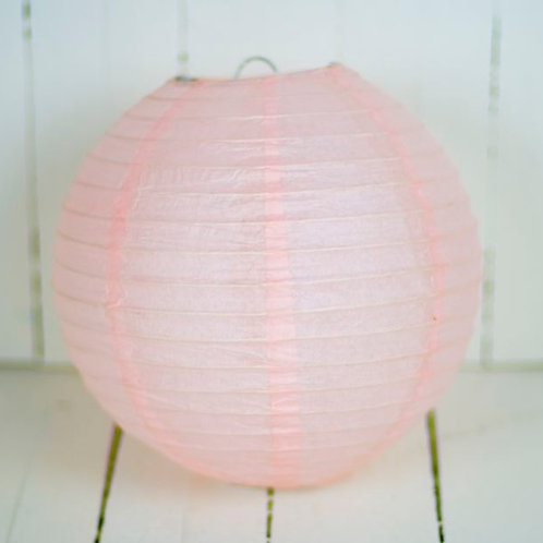 'Rice Light Pink' - Light Pink Paper Lantern 8 Inch