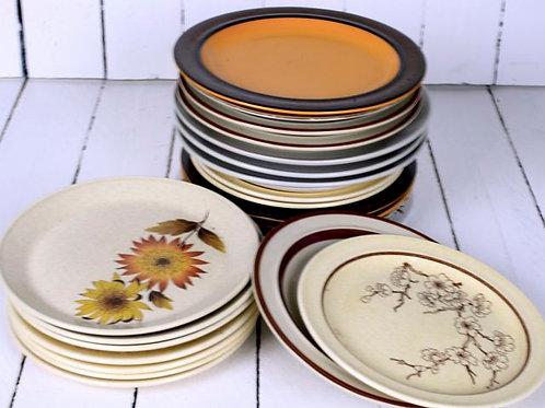 'Stoned Side' - Retro Stoneware Side Plates