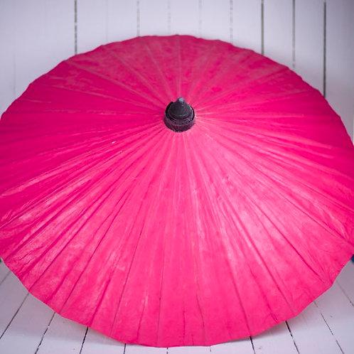 'Miss Drama' Hot Pink Paper Parasol