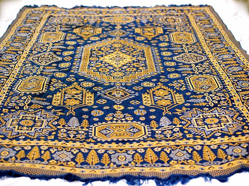 'Iraq' - Blue & Yellow Large Rug