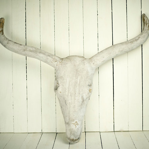 'Moo' Faux Cow Scull & Horns