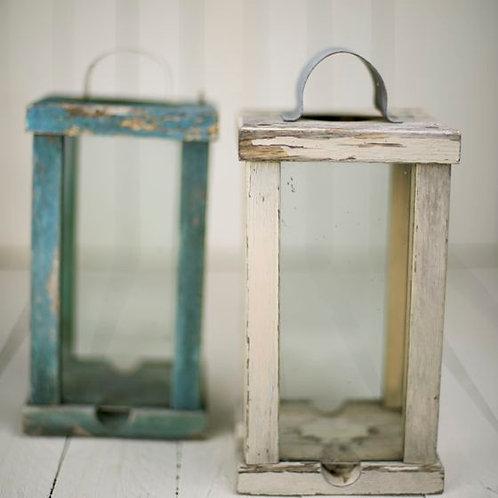 'Alice' Rustic Vintage Wooden Lanterns
