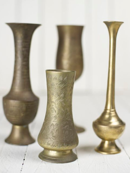 'Brass' - Small Vintage Brass Vases