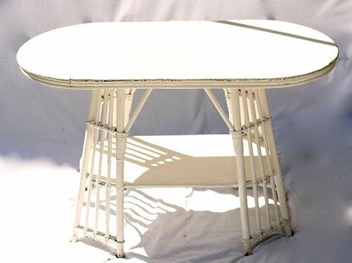 'Cherry Lane' - White Split Cane Coffee Table