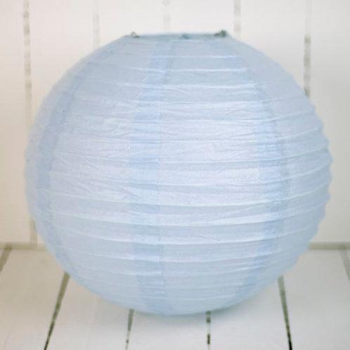 'Rice Pale Blue' - Pale Blue Paper Lantern 12 Inch