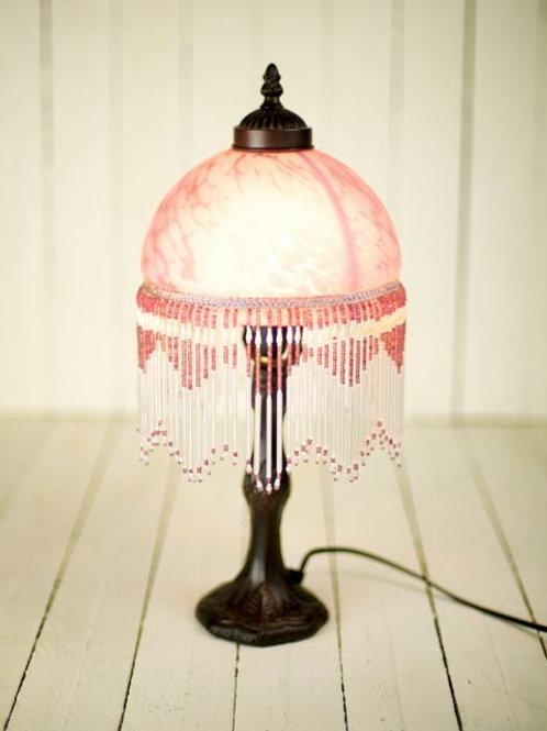 'Tiffany'- Beaded Pink Lamp