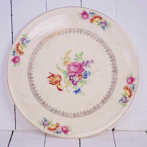 'Colour Me Floral' - Large Vintage Floral Platter