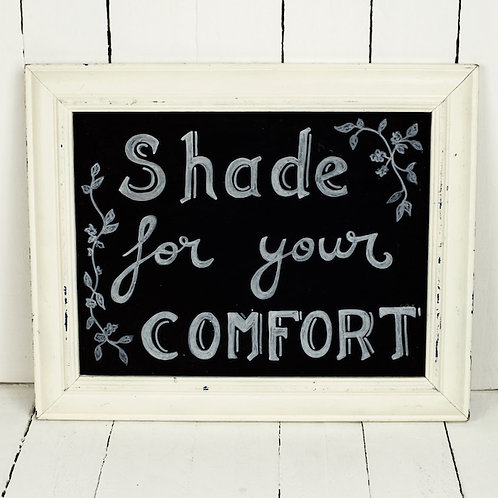 'The Shaded Place' -Chalkboard Parasol Sign