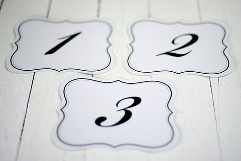 'Countess' Vintage Style Table Numbers