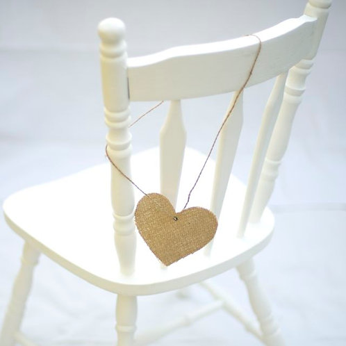 'Lilian' - Natural Burlap Chair