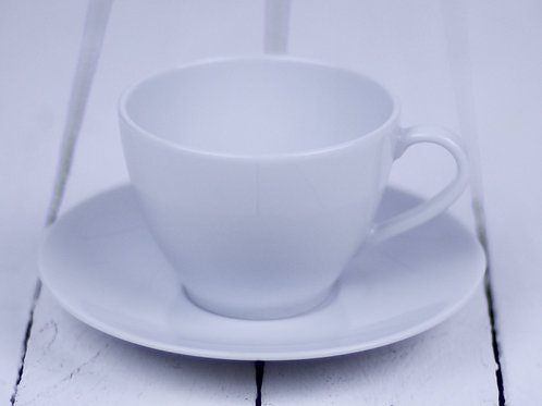 'Tea for The Tillerman' - White Tea Cup & Saucer