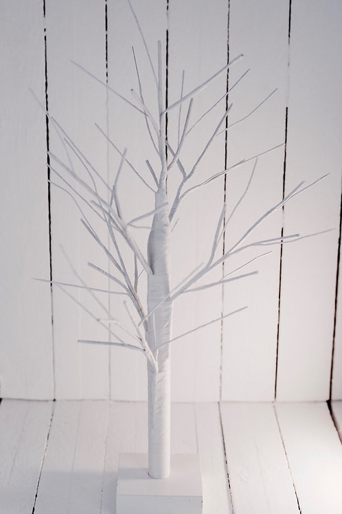 White bendable tree hire Brisbane wedding & event styling & hire
