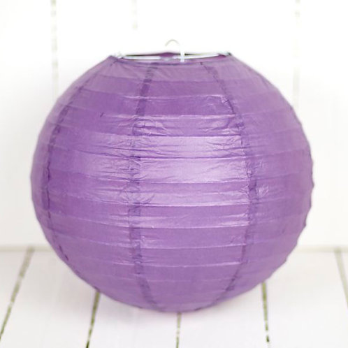 'Rice Purple 10' - Purple Paper Lantern 10 Inch