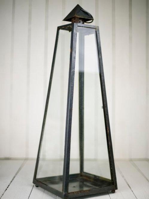 'Aliyah Too' Large Black Pyramid Lantern