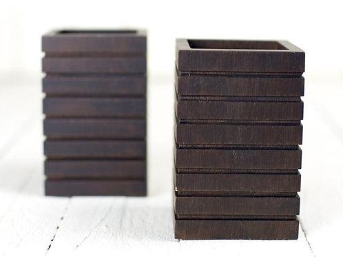 'Maple' - Square wooden vase