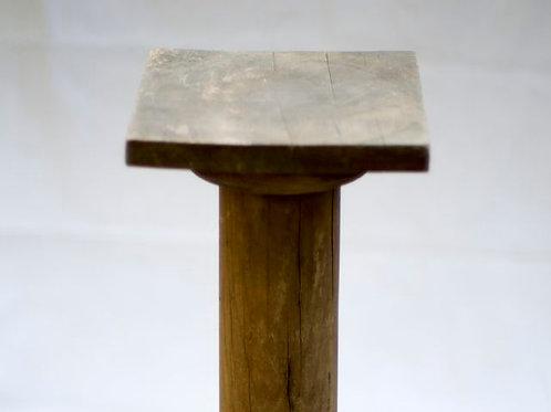 'Oak' Silky Oak Vintage Plinth