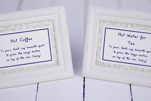 'Tea Tally' - Framed Tea & Coffee Signs