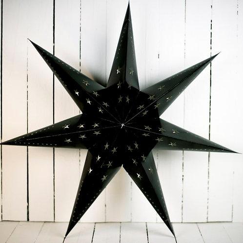 'Starlight Black' -Large Black Star Lantern