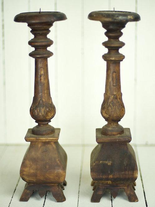 'Ivy' - Wooden Vintage Candlestick