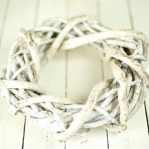 'Sandy' White woven beach wreath