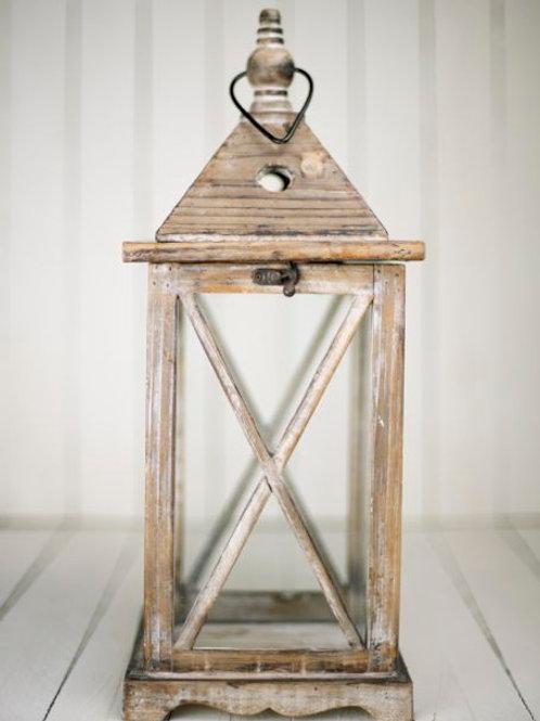 'Londyn' - Large Wooden & Glass Lantern
