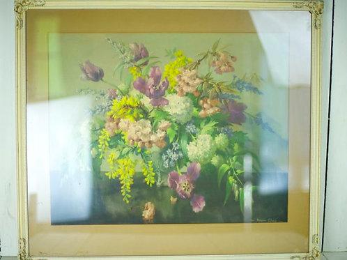 'Petal' Vintage Framed Floral print