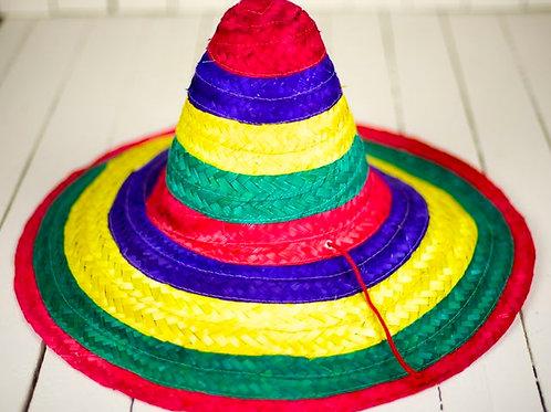 'Colorado' - Multi-Coloured Straw Sombrero