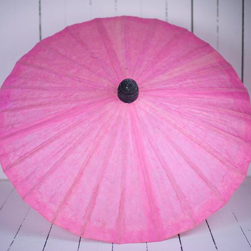 'Miss Pink' Mid Pink Paper Parasol