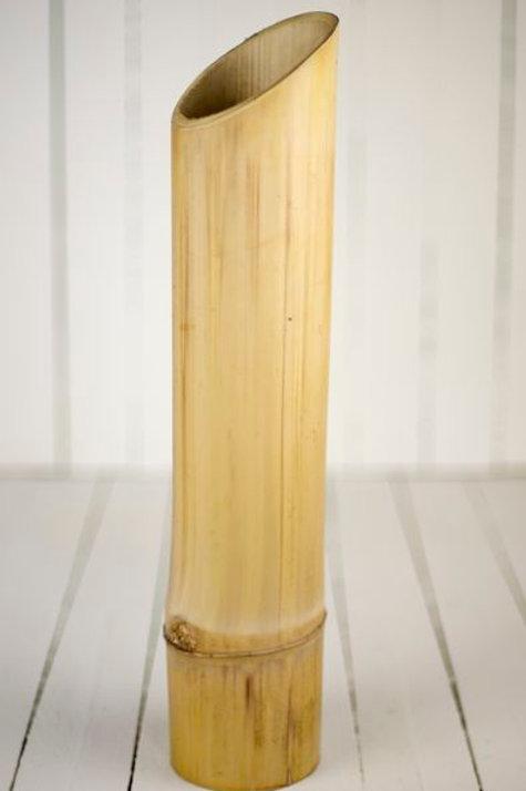 'Bamboo Big' - Tall Natural Bamboo Vase