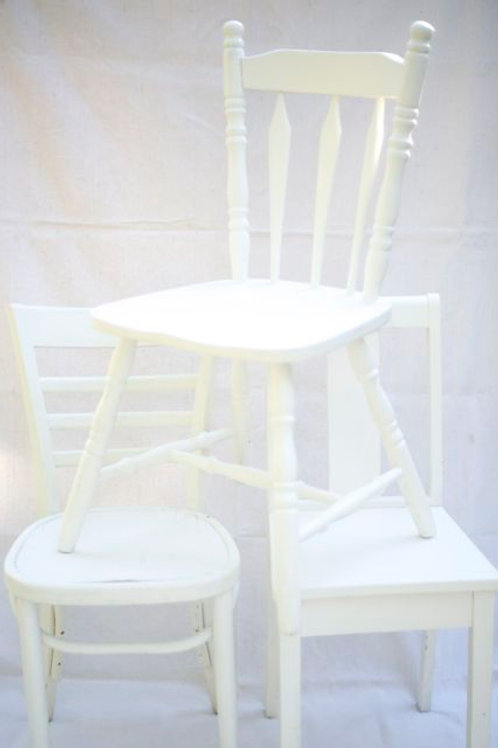 'Flair' - White Vintage Chairs