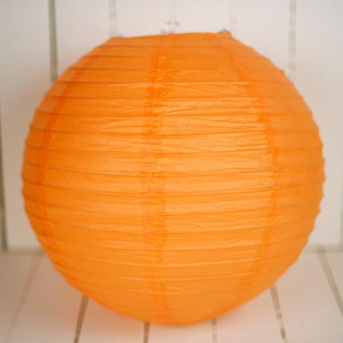 'Rice Orange' - Orange Paper Lantern 14 Inch