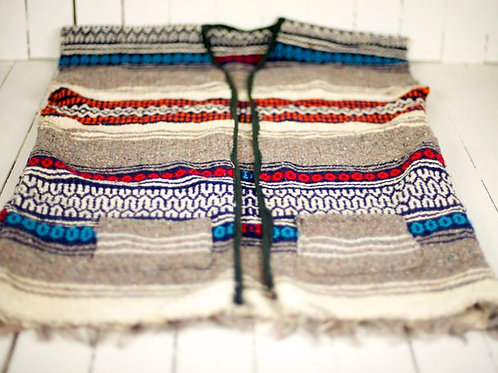'Muchacho' - Vintage Mexican Woven Vest