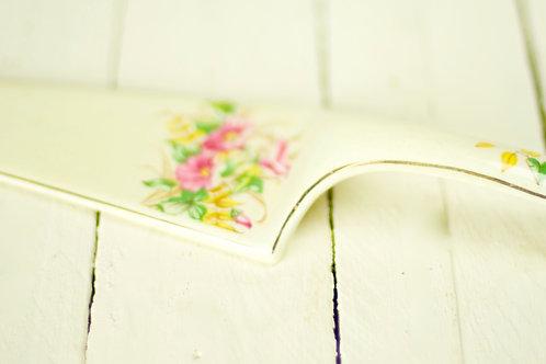 """""""Flora' Vintage Ceramic Floral Cake Server"""