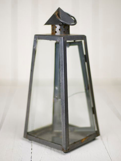 'Aliyah' Small Pyramid Black & Glass Lantern