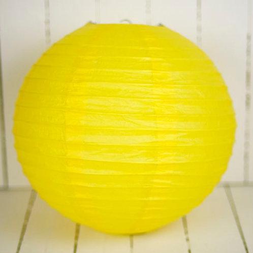 'Rice Yellow' -Yellow Paper Lantern 12 Inch