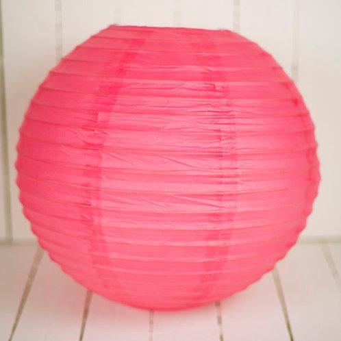 'Rice Deep Pink' - Paper Lantern Deep Pink 14 Inch