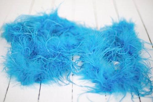 'Blue Lagoon'  - Blue Feather Garland 2.5 Metres