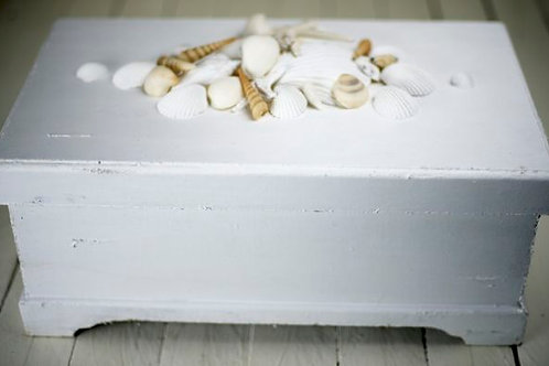 'Treasure' Seaside Shell Treasure Chest