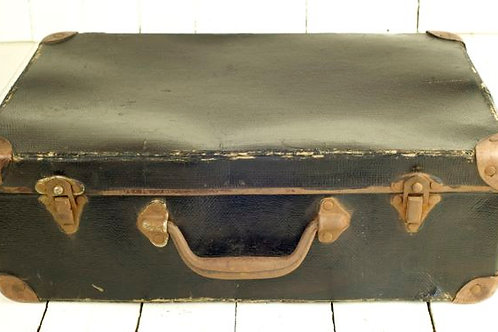 'Bon Voyage Five' Black Vintage Suitcase