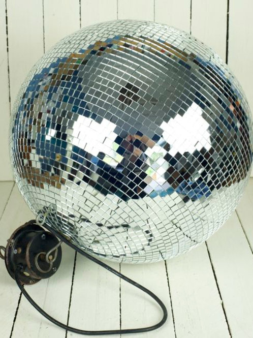 'Studio 54' - Large 60cm Mirror Ball With Motor