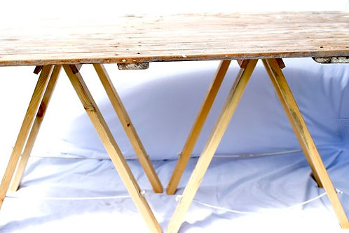 'Table Time' - Vintage Wooden Trestle Table