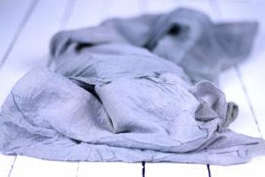 'Coastal Mostly' - Grey Muslin Hand-Dyed Runner