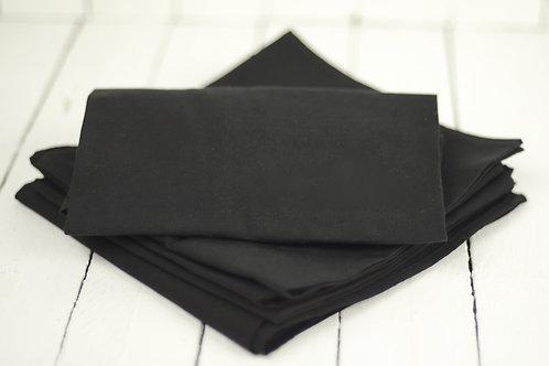'Black Star' - Black Linen Napkin