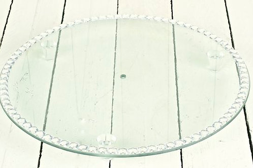 'Alaya' Round Glass Cake Stand With Diamnte